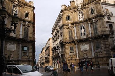 Quattro Canti (Four corners) center of Palermo
