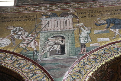 Byzantine mosaics with old testament stories