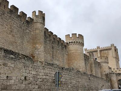 Castle above town of Penafiel