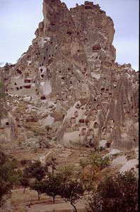 Cappadoccia (in central Turkey)- fairy chimneys and troglodyte dwellings!