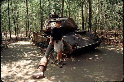 remains of American tank