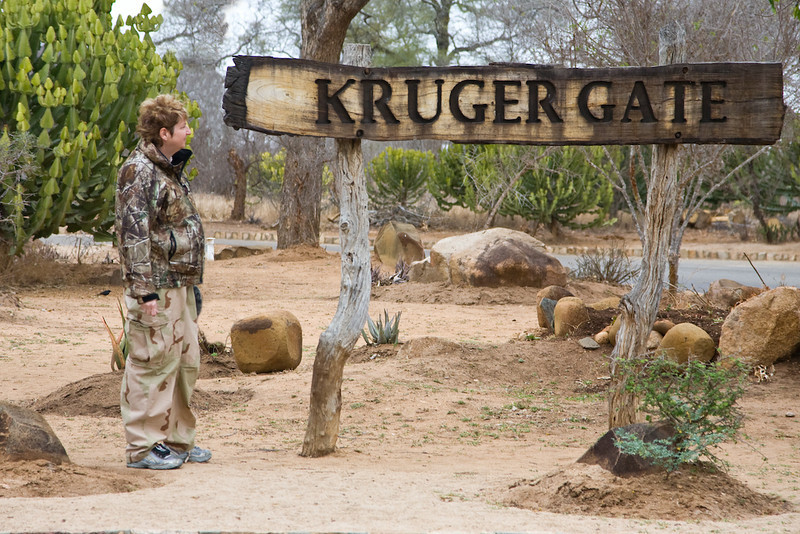 Bev at Kruger Gate