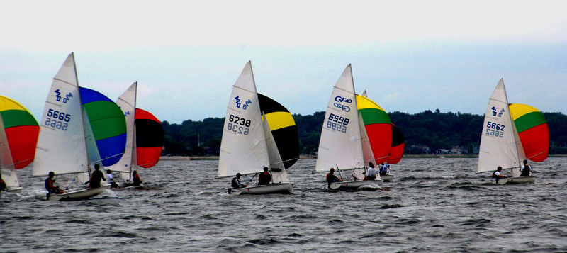 Cedar Point - Junior Sailing - 420's Downwind