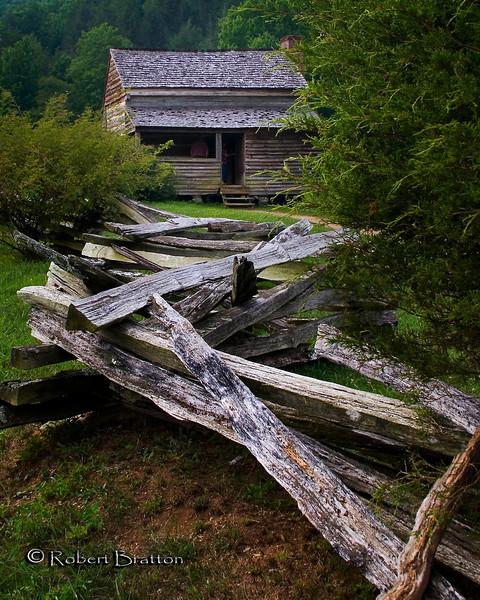 Split Rail Fence Leading to the Dan Lawson House