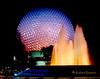 Epcot Fountain at Night