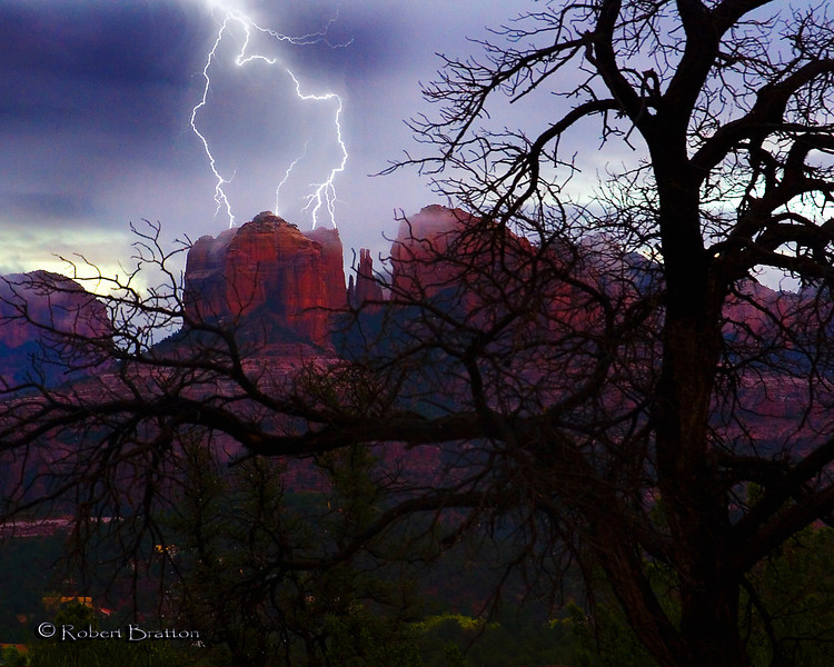 Lightning Over Cathedral Rock, Sedona