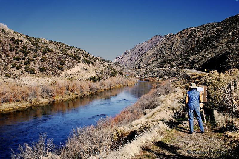 Rio Grande North of Albuquerque, New Mexico