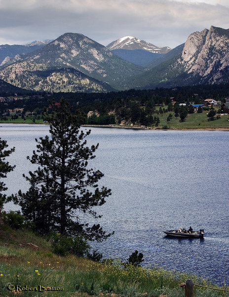 Fishing on Lake Estes, Estes Park, Colorado
