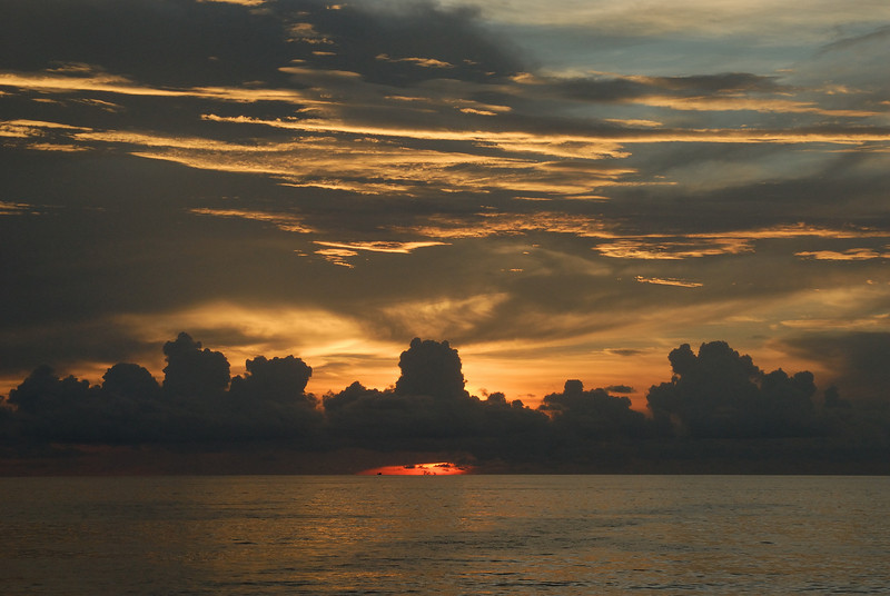 Andaman Sea Sunset off Patong beach, Phuket, Thailand. April 11, 2008.