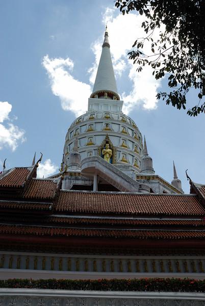 Wat Bangriang, spire of Main Temple Building, Phang Nga Provence, Thailand. April 2008.