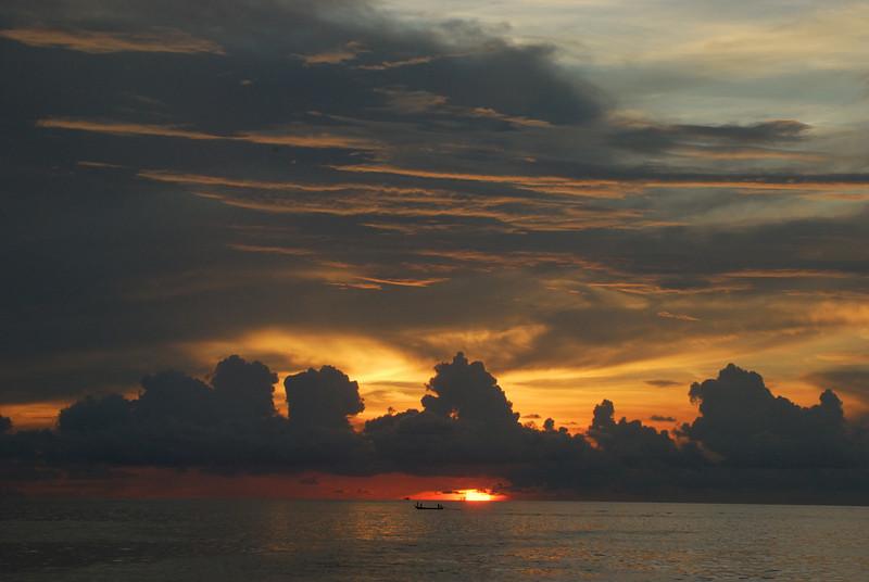 Andaman Sea Sunset off Patong beach, Phuket, Thailand. April 11, 2008