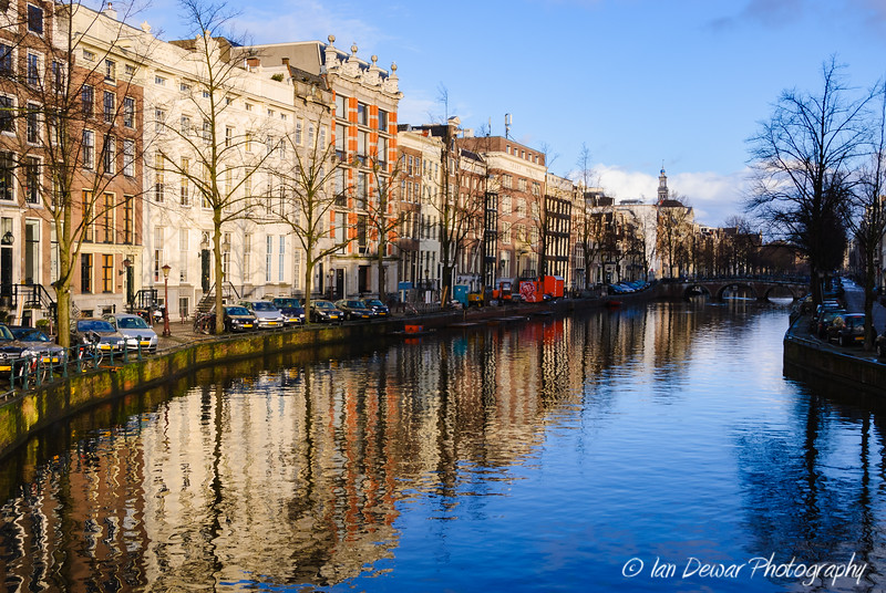 Reflections of Keisersgracht Amsterdam