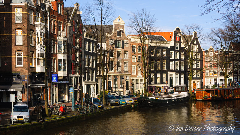 Houses lining Prinsengracht