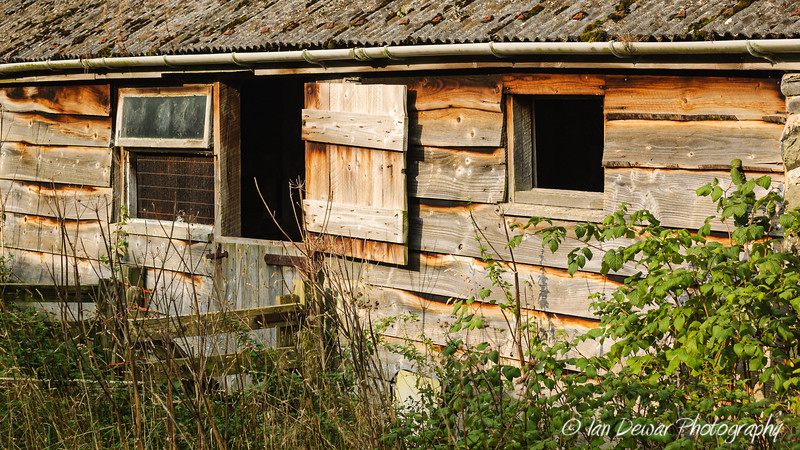 Old wooden Welsh barn