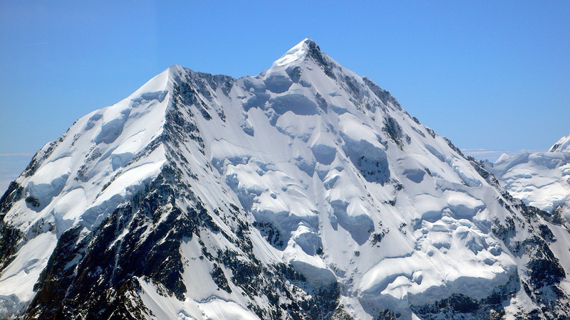 Mt. Cook/Aoraki, home mountain of Sir Edmund Hillary, South Island, New Zealand