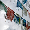 Temple Flags, Jade Dragon Snow Mountain National Park, Lijiang, China