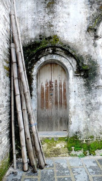 Door & Bamboo, Near Yangshuo, Southwest China