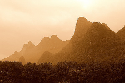 Mountains along Li River near Guilin 3