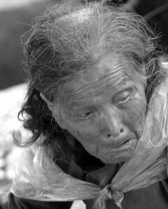 Old women outside Shanghai China  #1