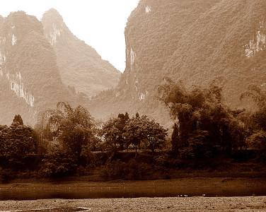 Mountains along Li River near Guilin 9
