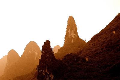 Mountains along Li River near Guilin 7