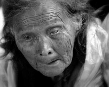 Old women outside Shanghai China  #2