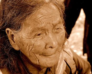Old women outside Shanghai China  #4