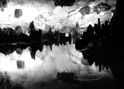 Cave near Guilin -  BW