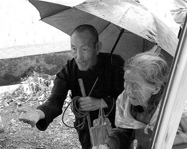 Man and wife outside Shanghai China
