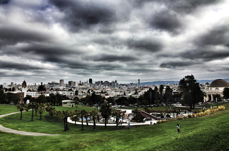 Dolores Park also known as Mission Park in San Francisco offers the best views of the city.