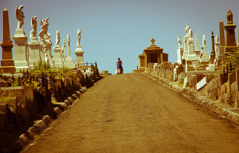 Stairway to heaven at Waverly Cemetery - Sydney, Australia