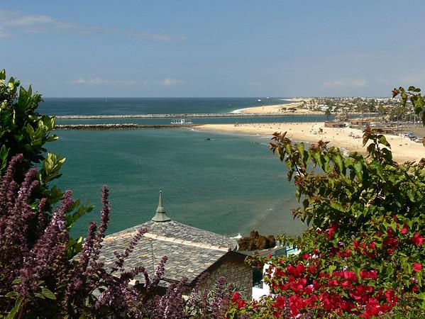 Overlooking the Beach at Corona del Mar CA