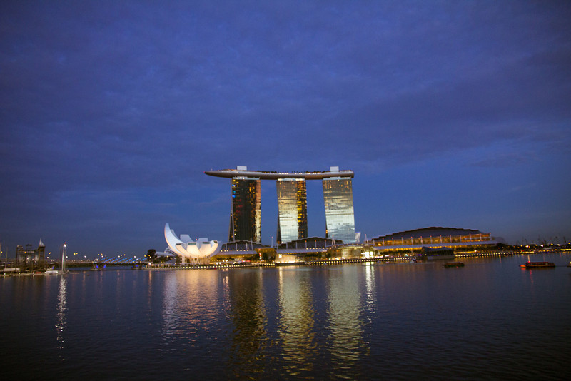 'Architecture focal point' - The breathtakingly beautiful Marina Bay Sands in Singapore.