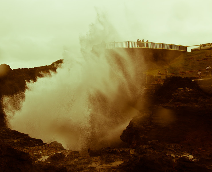 The spectacular Kiama blowhole in New South Wales.