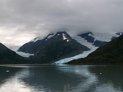 The terminus of Portage Glacier on the Kenai Peninsula, AK