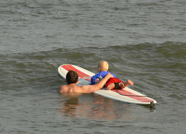 First Surfing Lesson, Cape Hatteras NC