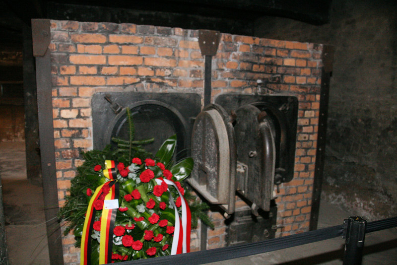 These are the ovens used to dispose of the bodies gassed at Auschwitz. Though thousands were executed here at Auschwitz, the camp next door, Birkenau claimed millions.