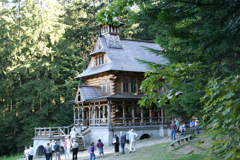 Jaszczurowka Chapel, a fine example of the wooden architecture in Zakopane.