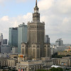 The Palace of Culture and Science in Warsaw is the tallest building in Poland, the sixth tallest building in the European Union. The building was originally known as the Joseph Stalin Palace of Culture and Science, but in the wake of destalinization the dedication to Stalin was revoked; Stalin's name was removed from the interior lobby and one of the building's sculptures. Currently it is the 187th tallest building in the world. It can be seen from almost anywhere in Warsaw. It has 42 stories and is 778 ft (237m) tall to the top of the spire.