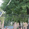 ARBEIT MACHT FREI  means Work will make you Free.  This is the entrance to Auschwitz concentration camp. How many millions passed this sign to their death...