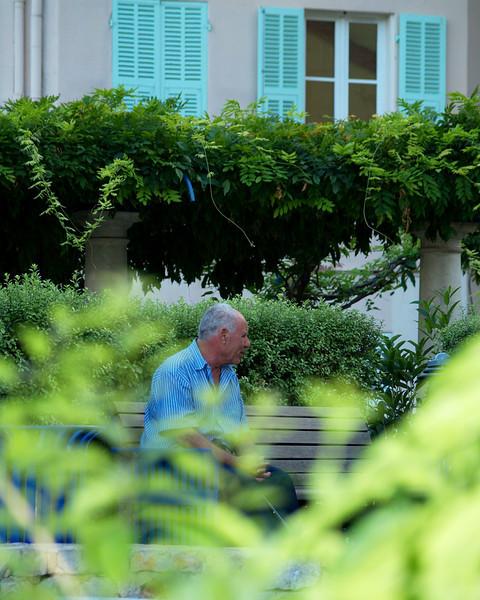 Menton, France Shades of Blue and Green