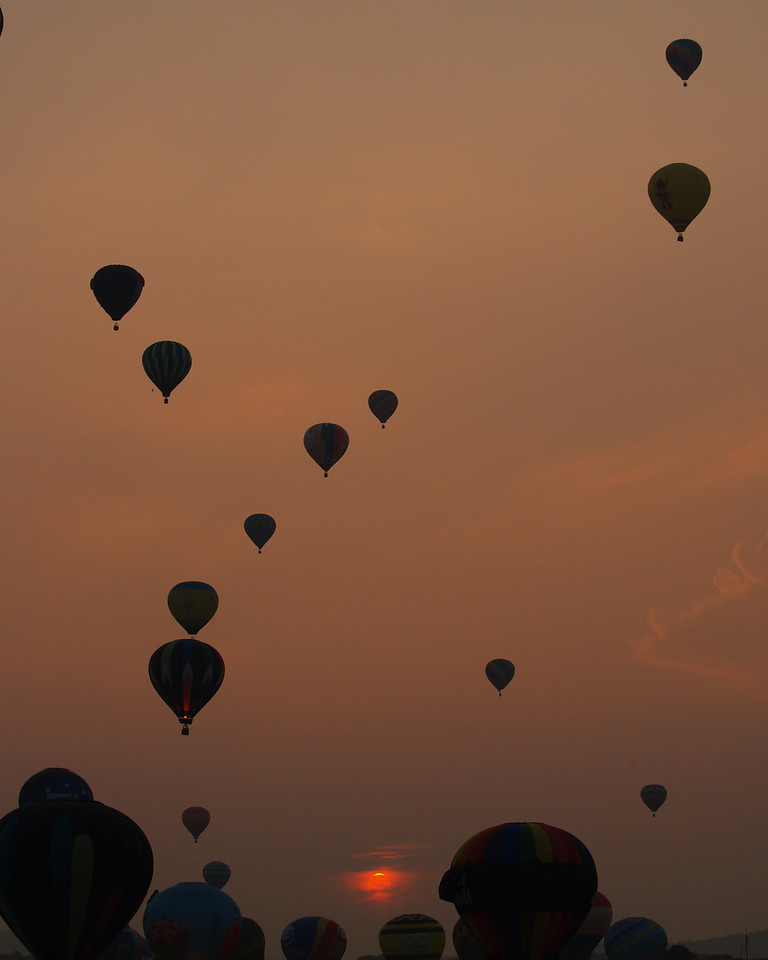 Sunset Balloon Launch