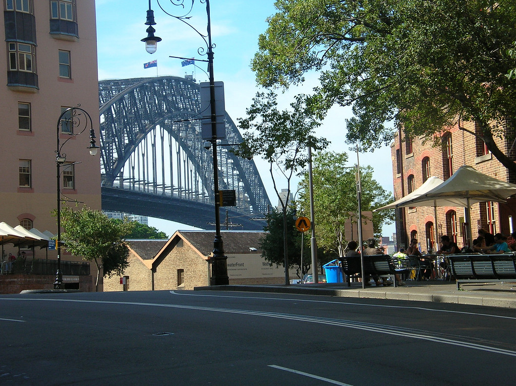 Sydney Harbor Bridge from the Rocks.