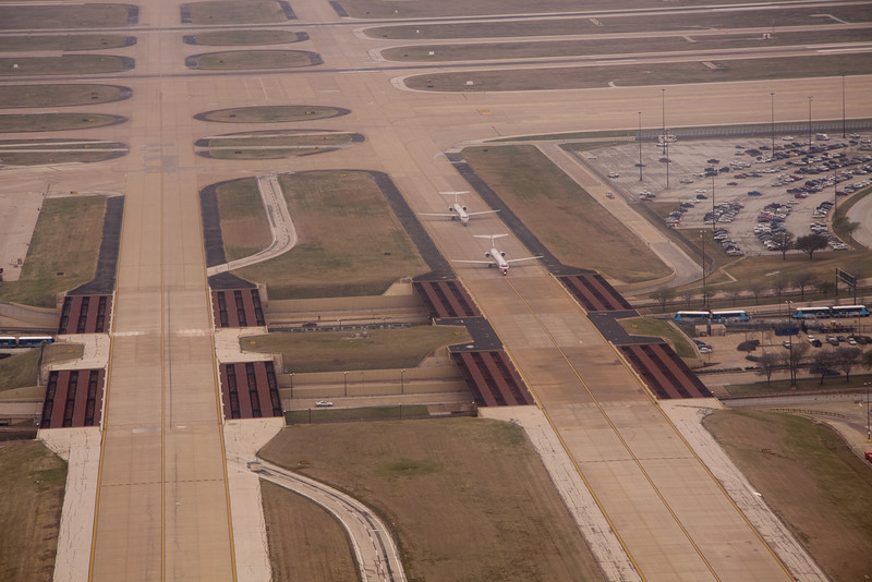 taxiways over the freeway @ Dallas Ft. Worth Airport