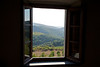 view from our room in Castellini in Chianti