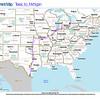 Trip Map 2012 Texas to Michigan