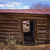 cabin in a deserted gold mining settlement near Atlantic City Wyoming