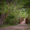 Quiet bridge at a watering hole in Cimarron Grasslands Kansas