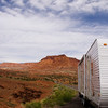 Capitol Reef Utah with a travel trailer in the foreground
