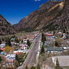 Looking down on the town of Ouray Colorado